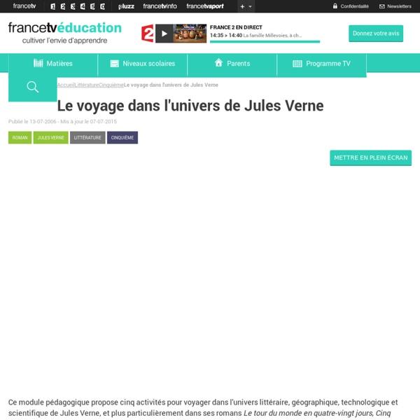 Le voyage dans l'univers de Jules Verne