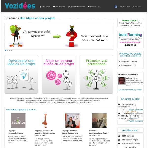 Vozidées - Le réseau social des idées et des projets
