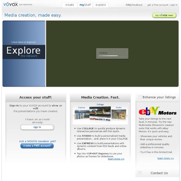 VUVOX - slideshows, photo, video and music sharing, Myspace codes