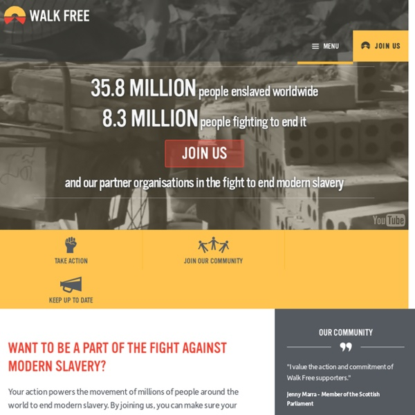 Walk Free - The Movement to End Modern Slavery