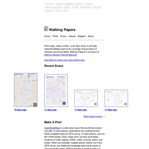 Walking Papers, préparer des cartes terrain