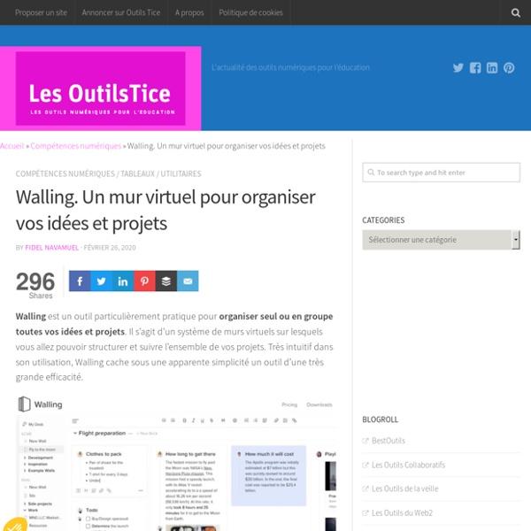 Walling. Un mur virtuel pour organiser vos idées et projets