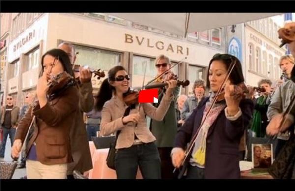 Star Wars Flashmob auf dem Wallrafplatz