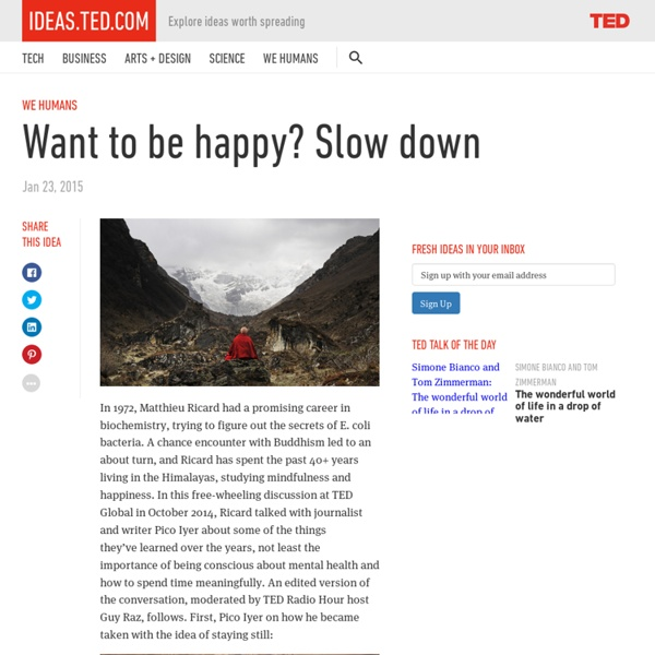 Want to be happy? SLOW DOWN