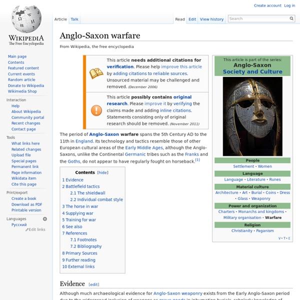 Anglo-Saxon warfare