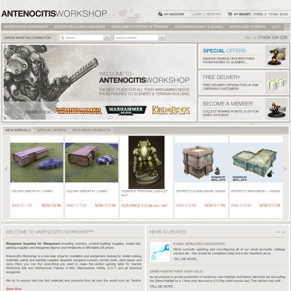 Wargames Supplies for Wargamers & Wargaming