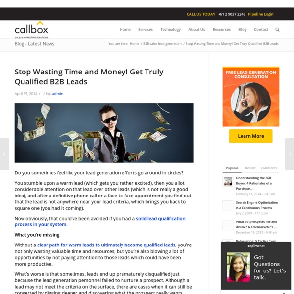 Stop Wasting Time and Money! Get Truly Qualified B2B Leads