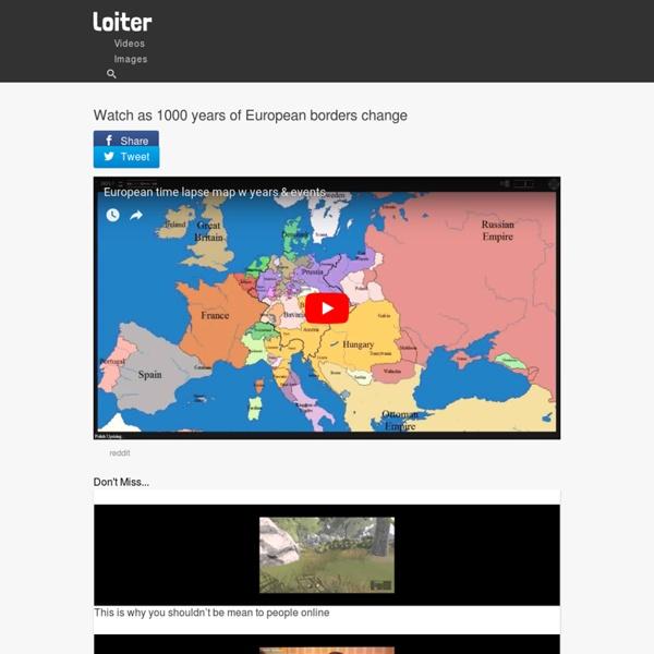 Watch as 1000 years of European borders change