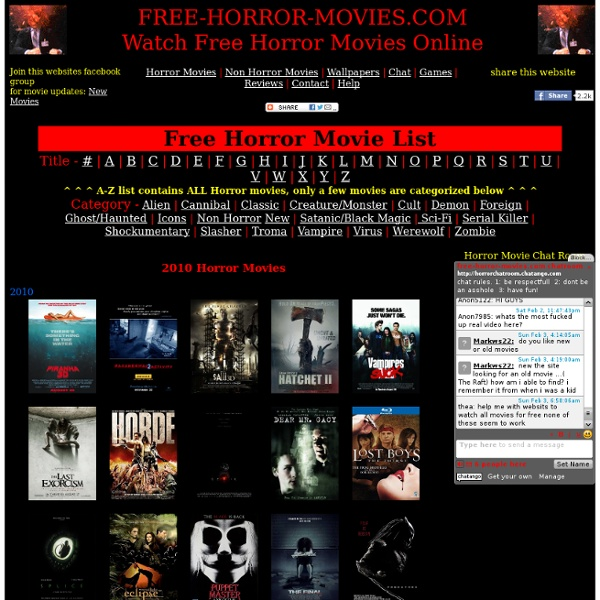 Watch Free Horror Movies Online. | Pearltrees