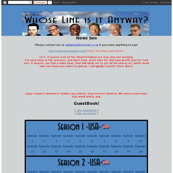 Watch Whose Line is it Anyway? Free!