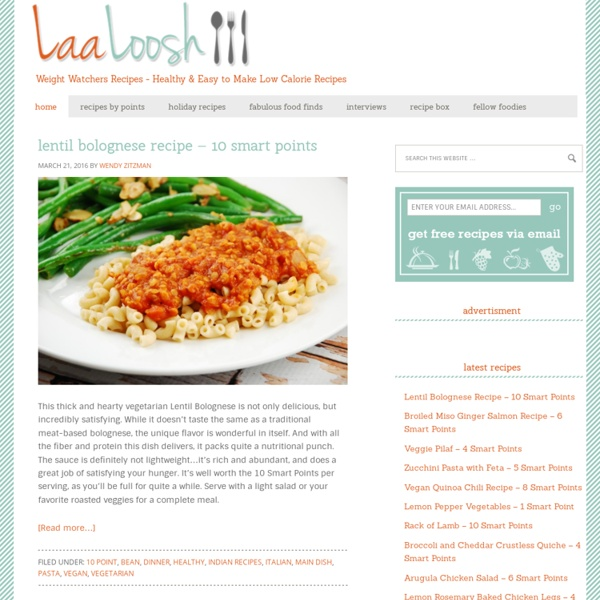 Weight Watchers Recipes With Points Plus - Low Calorie Recipes Online - LaaLoosh