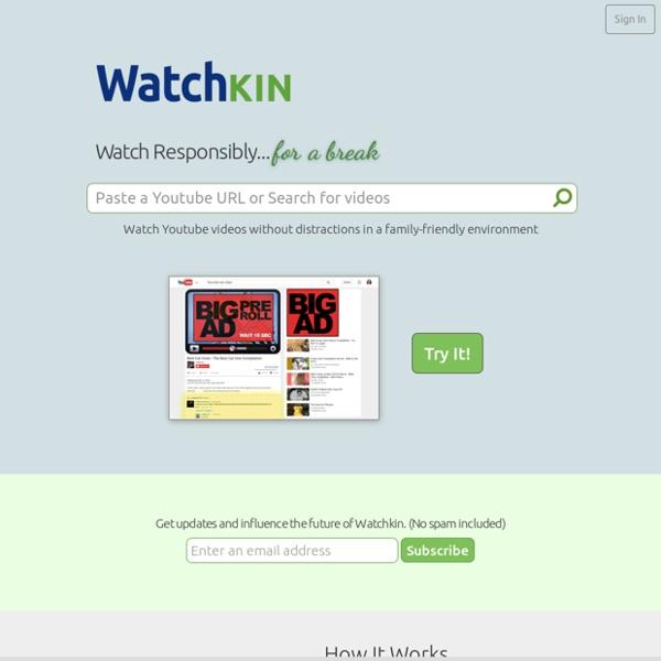 Watchkin - 去除廣告與相關項目來看影片