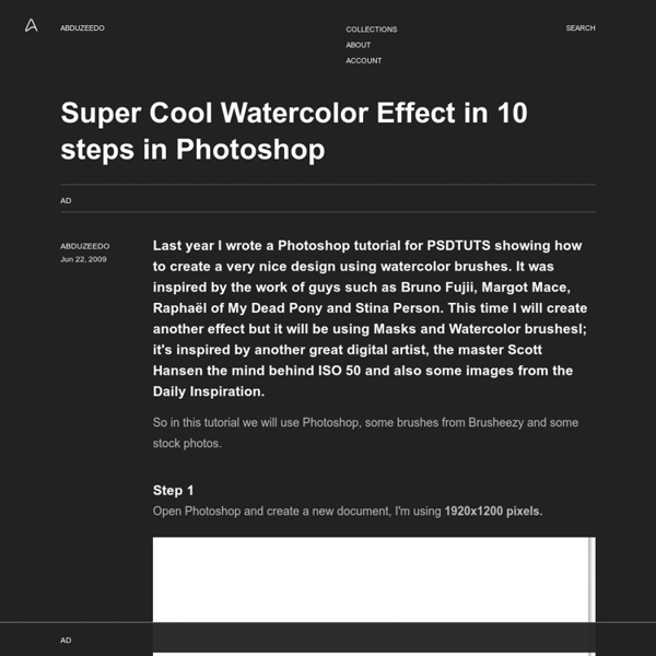Super Cool Watercolor Effect in 10 steps in Photoshop
