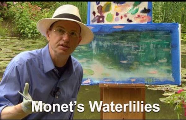 Peindre des nénuphars à Giverny: démonstration.