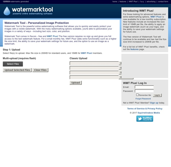 Free Watermark Tool - Generate watermarks for your images quickly and easily.