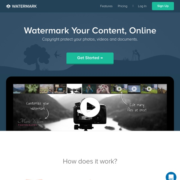 Online Watermark Tool - Protect Your Photos Online