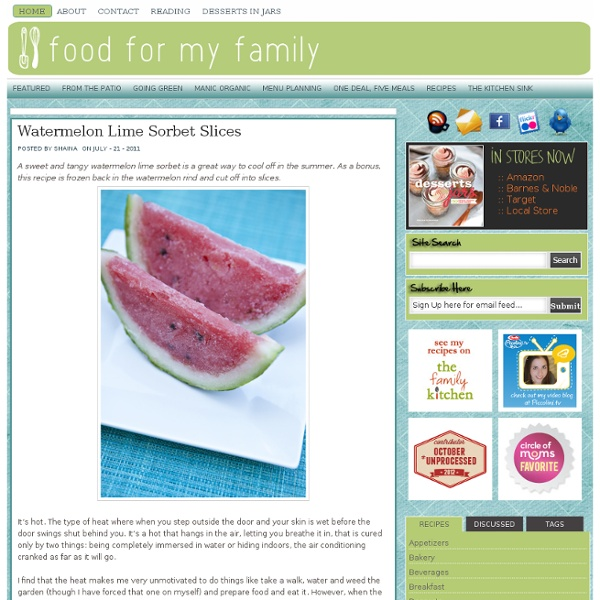 Watermelon Lime Sorbet Slices