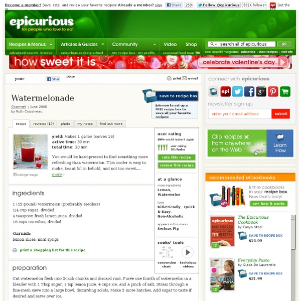 Watermelonade Recipe at Epicurious
