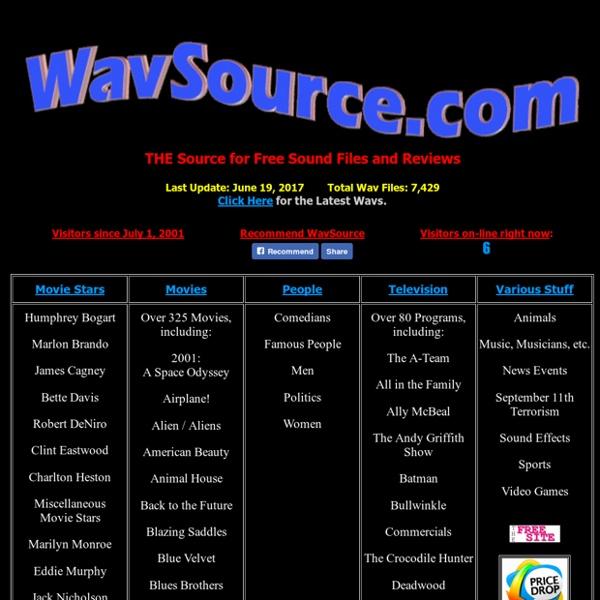 WavSource.com: Free Wav Files and Sound Bites