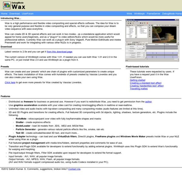 Wax - [ Homepage ]