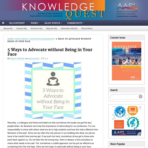 5 Ways to Advocate without Being in Your Face