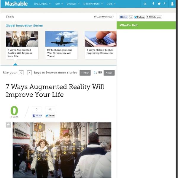 7 modi in cui la realtà aumentata potrà migliorare la nostra vita e la user experience