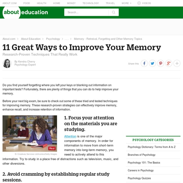 Improving Memory - Top 10 Tips for Improving Memory