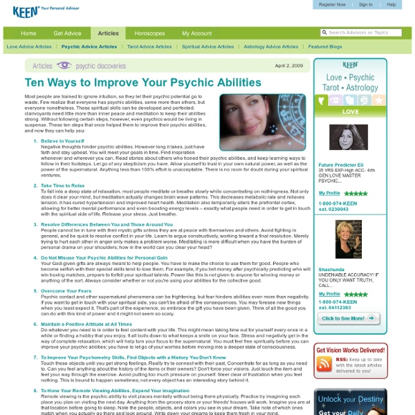 10 Ways to Improve Your Psychic Abilities