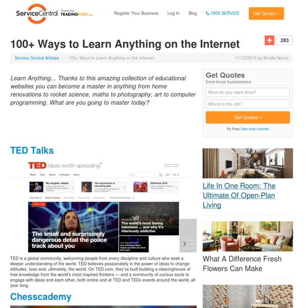 100+ Ways to Learn Anything on the Internet