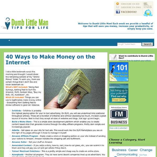 40 Ways to Make Money on the Internet