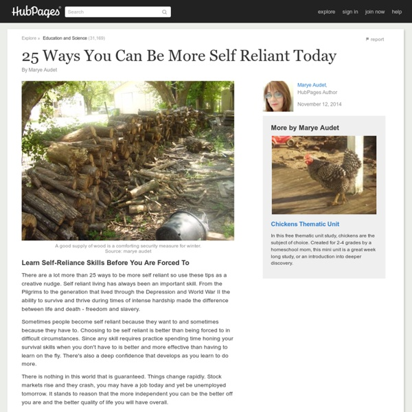 25 Ways to be More Self Reliant Today