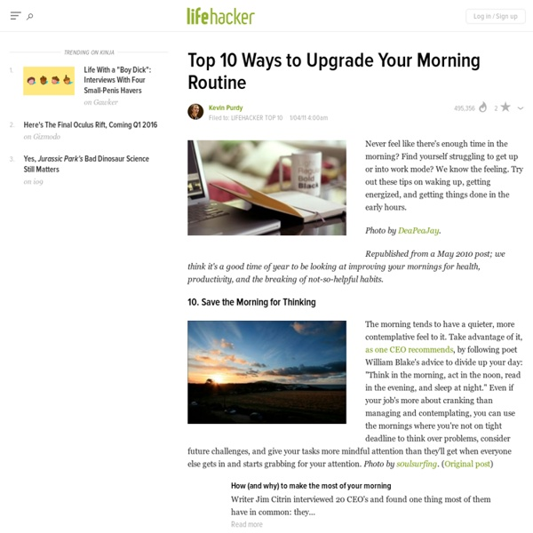 Top 10 Ways to Upgrade Your Morning Routine