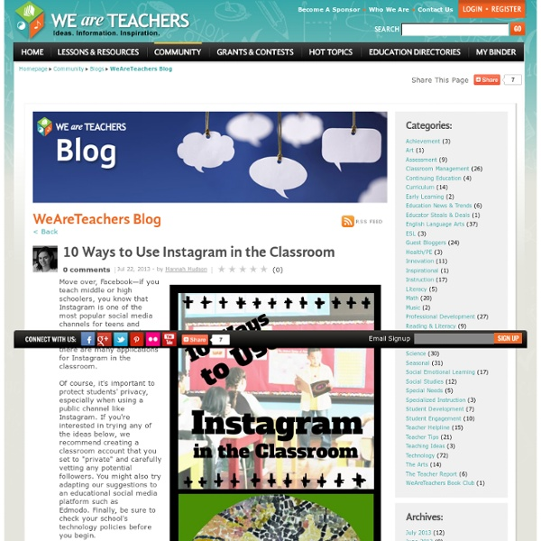 10 Ways to Use Instagram in the Classroom
