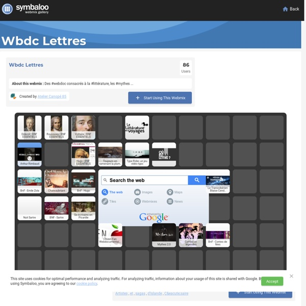 Wbdc Lettres- Symbaloo Gallery