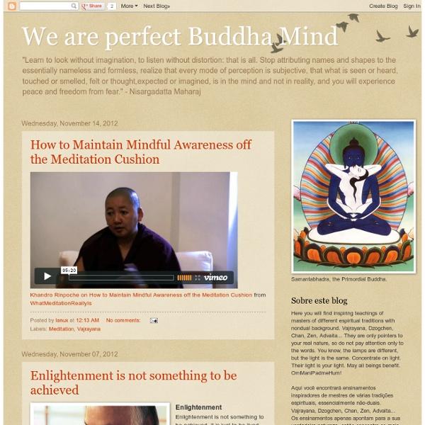 We are perfect Buddha Mind