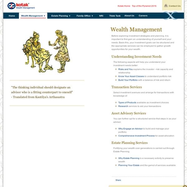 Wealth Management Process in India - Kotak Wealth Management