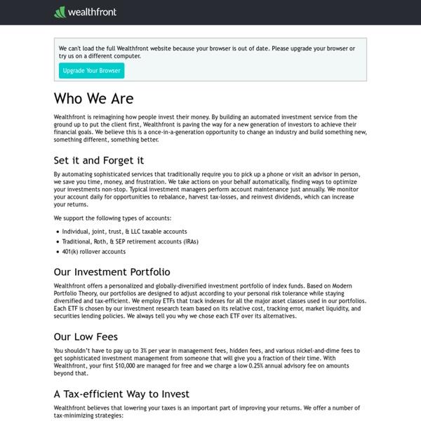 Investment Management, Online Financial Advisor