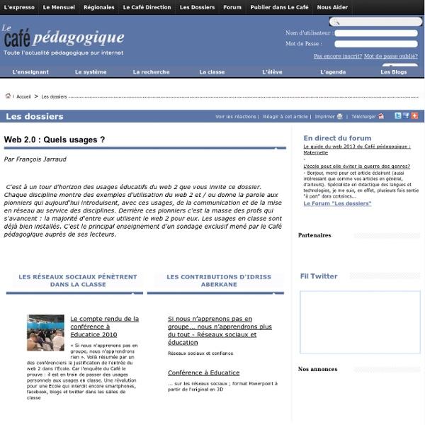 Web 2.0 : Quels usages ?