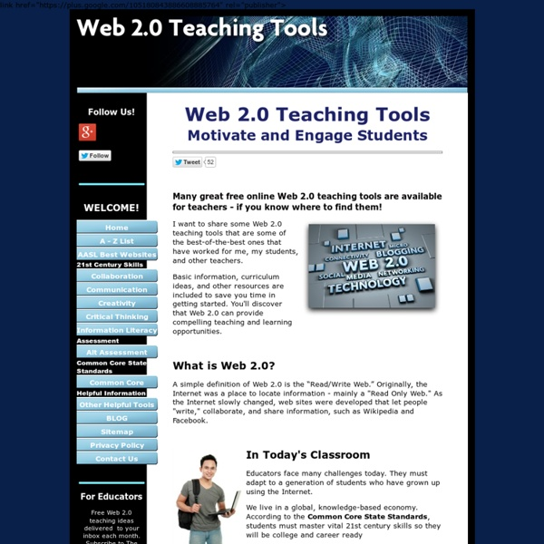 Web 2.0 Teaching Tools
