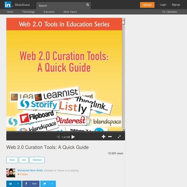 Web 2.0 Curation Tools: A Quick Guide