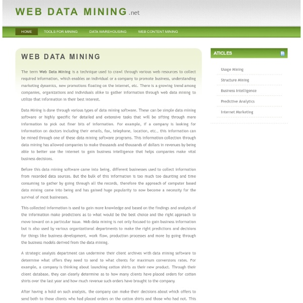 Web Data Mining - An Introduction
