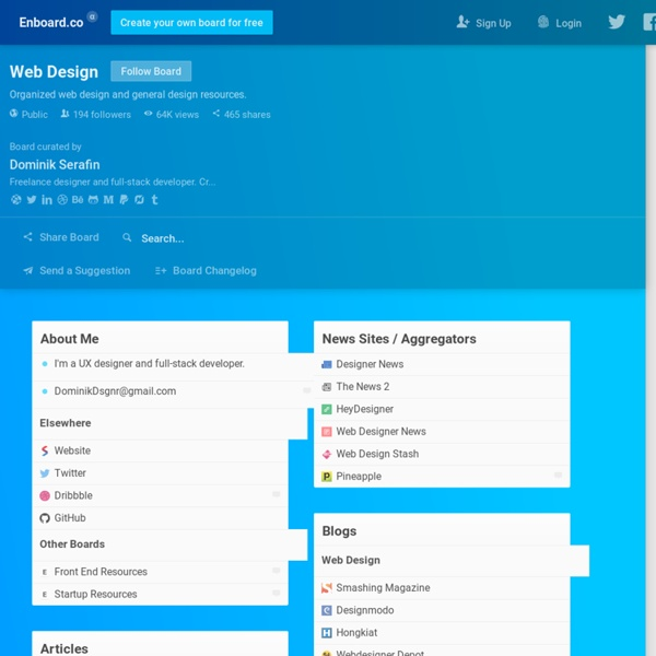 Web Design: Curated Lists and Repositories.