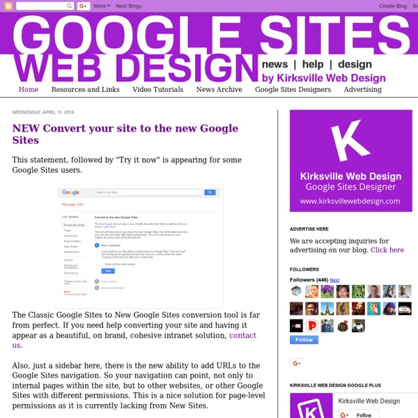 Web Design with Google Sites