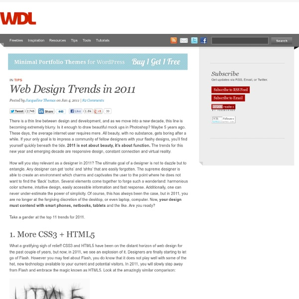 Web Design Trends in 2011