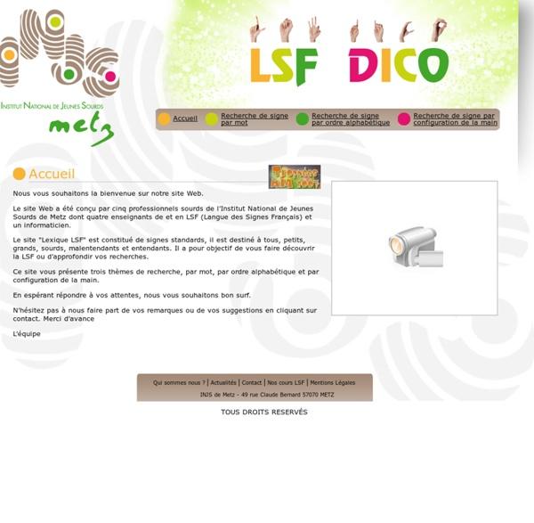 Web LSF Lexique - INJS METZ