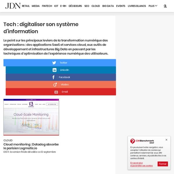 Web & Tech sur JDN : toutes les actualités et tendances Web & Tech