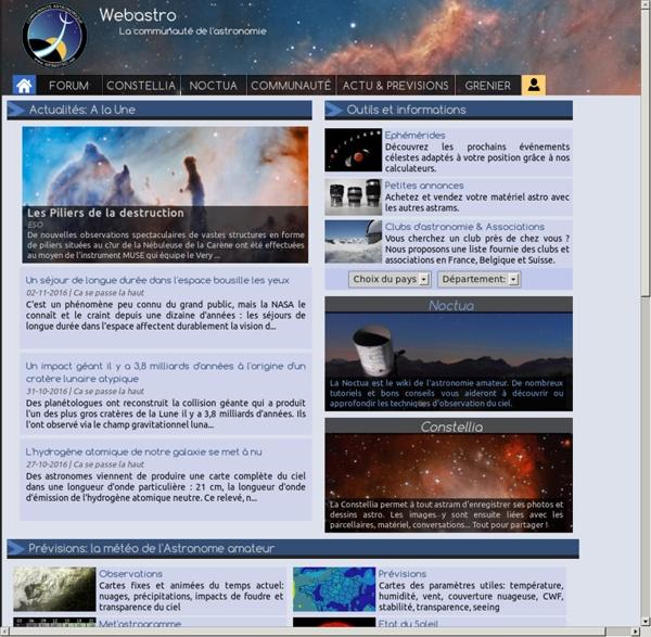 Webastro - Communauté sur l'astronomie