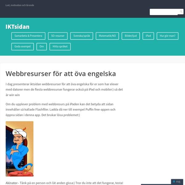 Webbresurser för att öva engelska