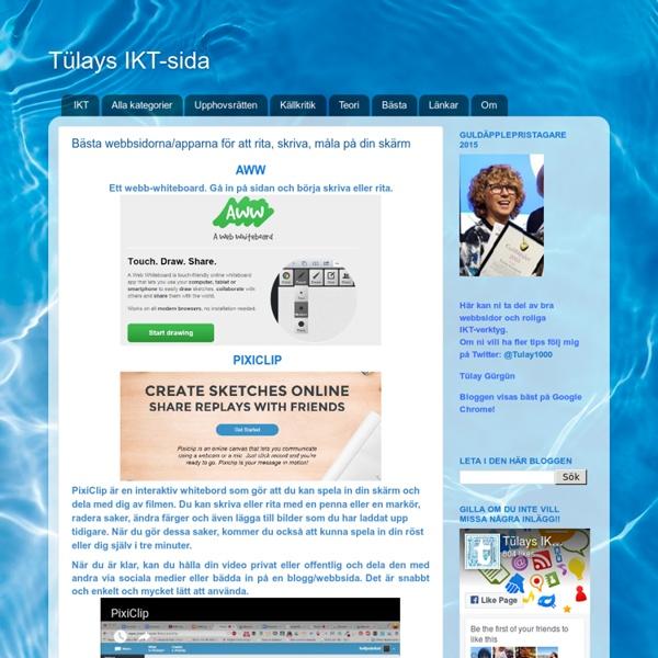 Bästa webbsidorna/apparna för att rita, skriva, måla på din skärm