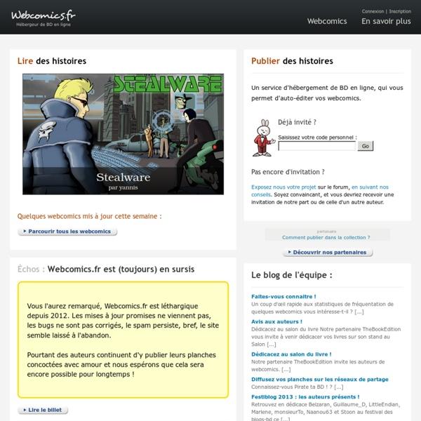 Webcomics.fr - Publier des BD à lire sur Internet